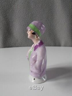 Statuette femme demi figurine art deco FASOLD & STAUCH en porcelaine half doll