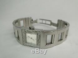 Superbe Montre Femme Lalique Modele Bacchantes Quartz Cristal Bracelet Acier