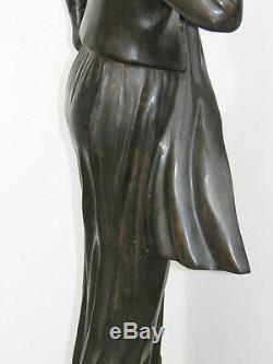 TASSEL Jeune Femme Modiste SUPERBE STATUE BRONZE 95cm style ART DECO Années 20