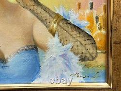 Tableau Huile Femme Konstantin Razumov Portrait Belle Epoque Impressionnisme