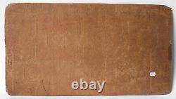 Tableau Peinture Ancienne Huile Femme, Nue, Allongé, Chat, Livre