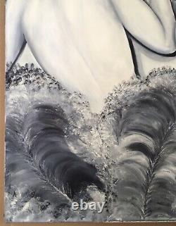 Tableau Peinture Huile Portrait Les Libertines Femmes Art Déco Erotisme Féminin