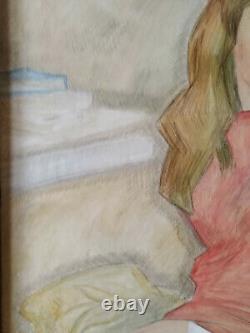 Tableau nu portrait jeune femme
