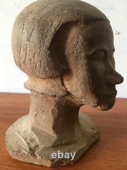 Tres Belle Tete Femme En Terre Cuite Buste 1930 Art Deco