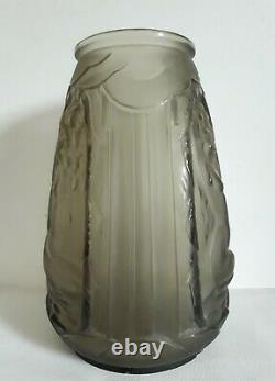VERLYS (1925-1946) vase en verre décor femmes nues 1930 Art Déco