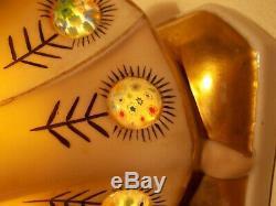 Veilleuse brûle parfum art deco femme en porcelaine lampe sculpture (vase boite)
