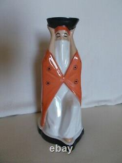 Veilleuse brûle parfum en porcelaine art deco HARVA 1930 femme orientale statue