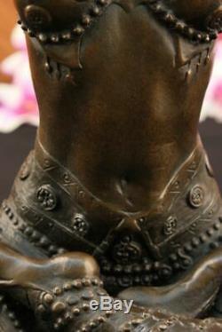 Vintage Style Chiparus Art Déco Sculpture Chair Femme Yoga Pose Figurine Statue