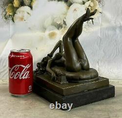 Vintage Style Preiss Allemand Art Déco Érotique Nu Femme Vieux Bronze Statue Nr