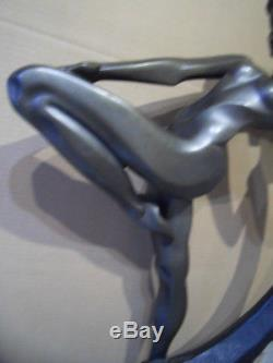 Vintage naked nude naiade woman statue Statue femme nue Art deco